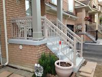 Outdoor glass railings and aluminum. GTA and 60 km around