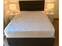 BRAND NEW DOUBLE BED WITH MATTRESS, PICK UP IN CAMBRIDGE!!!