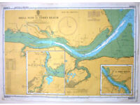 A2 Size Maritime Chart SC5606.11 Thames Estuary - Shell Ness to Ferry Reach - Good Condition