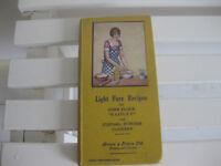 "Vintage Brown & Polson cook book ""Light Fare"""
