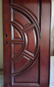 Solid wood double front door + Frame