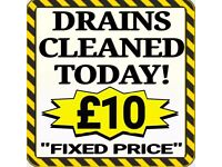 """""""£10"""" Fixed Price (NO SILLY 70% DISCOUNT NONSENSE) or""""FROM PRICE"""" (£10 Blocked Toilets & Drains £10)"""