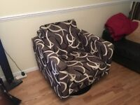 Wow factor modern design trendy swivel chair
