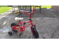 Fire chief toddler bike