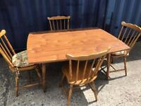 Extending kitchen table and 4 chairs FREE DELIVERY PLYMOUTH AREA