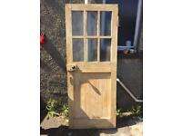 Solid Wood retro/shabby chic Door