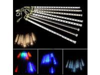 Thick 55CM RGB Multi-Colour 240xLEDs 8xTubes X'mas Meteor Shower Shooting Star Tree Decoration