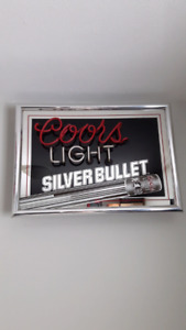 Mirrored Coors light sign