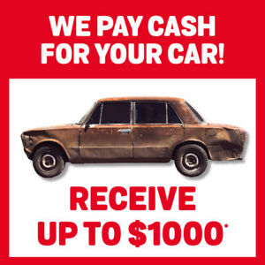 WE PAY CASH FOR YOUR CAR!