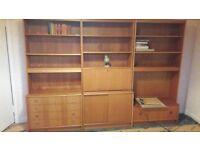 Desk and bookcase units