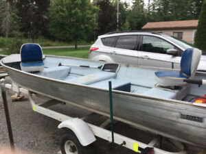Fishing Boat, 8 HP Johnson Motor, Heavy Duty Trailer
