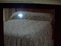 Vantona Country Garden Double size Bedspread never used