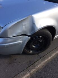 Vw bora had a bump which will show in the pics car could be put back on the road