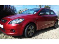 Kia Pro_Ceed STRIKE, 2010(10) Red, Manual Petrol, 59,000 miles, FSH, FREE 2 MONTHS RAC JUST SERVICED