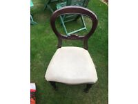 4 Antique Balloon Back Chairs
