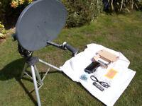 motorhome or caravan portable satellite system