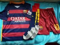 Barcelona football strip, age 4-5 yrs