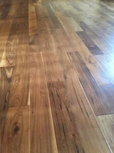 Vintage hand scraped black walnut flooring
