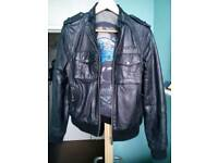 AMPLIFIED LEATHER JACKET. M