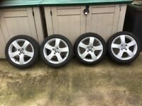 Peugeot 205/50 R17. 93 Alloy Wheels and Tyres