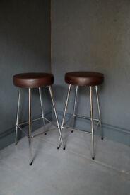 Pair 1960s stools