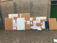 Office notice boards wood & metal various sizes