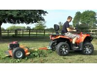Paddock Topper towable with a quad bike or compact tractor for overgrown weeds, grass and brambles.
