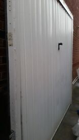 High quality white steel door 230cm long and 220 high