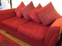 Large Two Seater Sofa/metal action double bed settee
