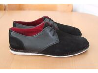 Men's Pointer Crago shoes in Black suede and leather upper size 11 US 45 EU