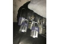 Squire combi padlocks in good working con