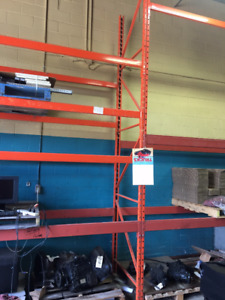 USED HEAVY DUTY RACKING UPRIGHT AND CROSS BEAMS $15.00