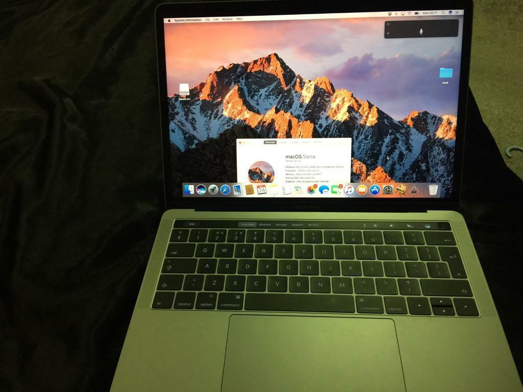 "macbook pro 13"" 2.9ghz i5 8gb ram 2133mhz Touch barin Ashford, SurreyGumtree - MacBook PRO 13 with TouchBarProcessor 2.9GHz dual core Intel Core i5 processor, Turbo boost up to 3.3GHzMemory 8GB 2133MHz ramStorage 256GB PCle based SSDGraphics card Intel Iris Graphics 5506 months old hardly used with original box and extra..."