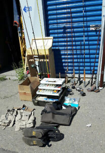 50 years worth of fishing gear for sale