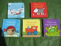5 Usborne Touchy-Feely Hardback Board Books in Colour for £5.00