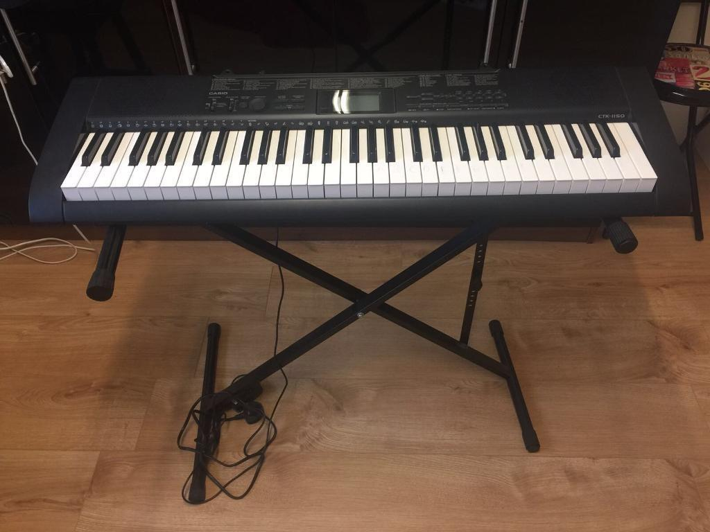 casio keyboard ctk 1550 piano with stand in scunthorpe lincolnshire gumtree. Black Bedroom Furniture Sets. Home Design Ideas