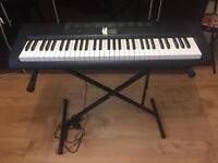 Casio Keyboard CTK-1550 Piano With Stand And Books