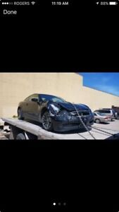 2009 Infinity G37x - damaged , clear title , AWD