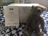 Very rare Steiff bear, (now retired).Limited edition 'Keepsake Bear'