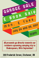 Garage Sale & Book Sale at peopleCare A.R. Goudie LTC Home