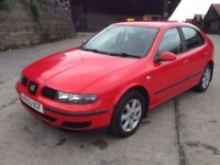 2003 Seat Leon S 16v 1.4 red 87,000 full history px welcome