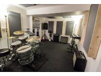Amazing rehearsal room / music studio / practice space / drum practice / writing room. From £70pm