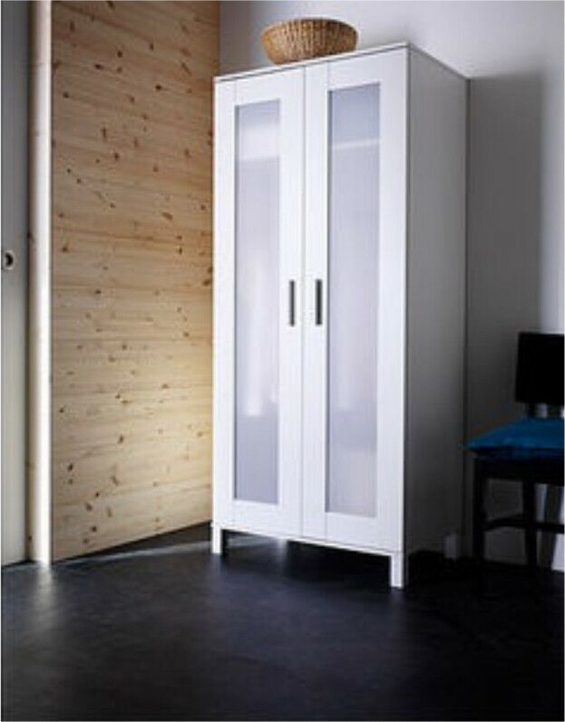 wardrobe white ikea 39 aneboda 39 in ashford surrey gumtree. Black Bedroom Furniture Sets. Home Design Ideas