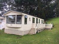 Static Caravan For Sale in Dawlish Warren, Devon with side decking
