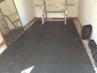 Heavy duty gym matting
