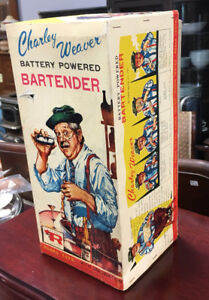Vintage 1962 Charlie Weaver Battery Operated bartender With Box
