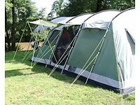 Outwell Montana 6 tent with front extension canopy