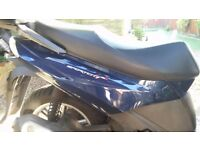 2011 Aprilia SportCity 300 Plastic BLUE tail side cover, fairing, right side only,