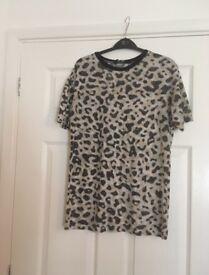 Leopard print tshirt size 8