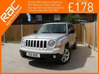 2011 Jeep Patriot 2.2 CRD Turbo Diesel Limited 6 Speed 4x4 4WD Sunroof Sat Nav B